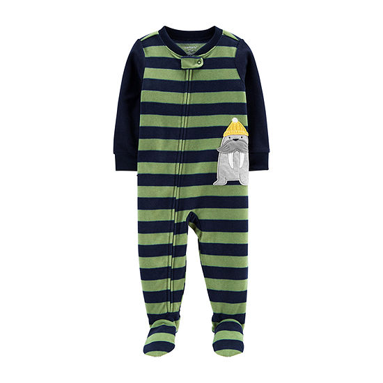 Carter's Boys Microfleece Long Sleeve One Piece Pajama