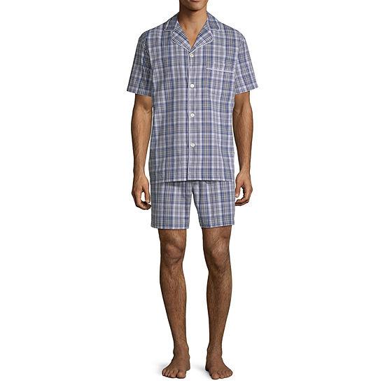 Stafford Short Sleeve Mens Shorts Pajama Set 2-pc.