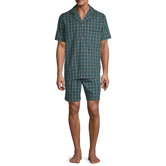Stafford Mens Short Sleeve Pajama Set 2-pc.