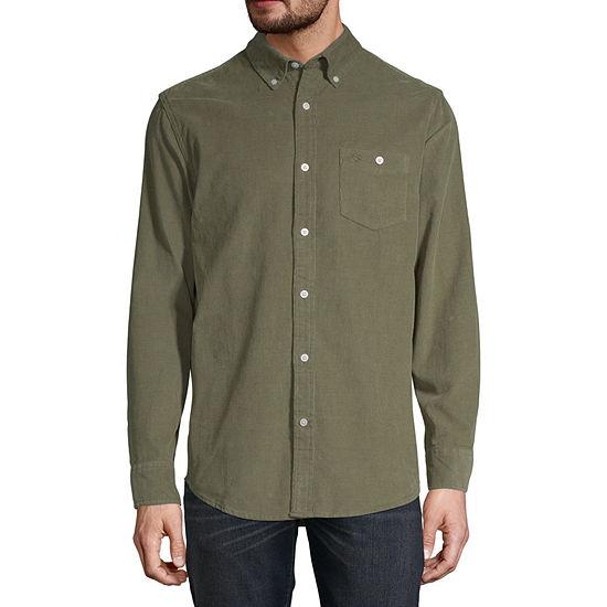 St. John's Bay Outdoor Corduroy Mens Long Sleeve Button-Front Shirt