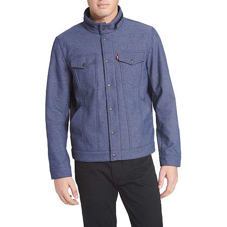 Levi's Men's Commuter Soft Shell Trucker, Medium , Blue