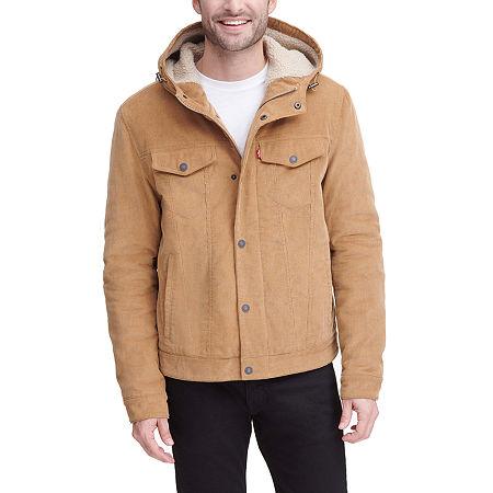 Levi's Men's Corduroy Hooded Trucker Jacket, X-large , Beige