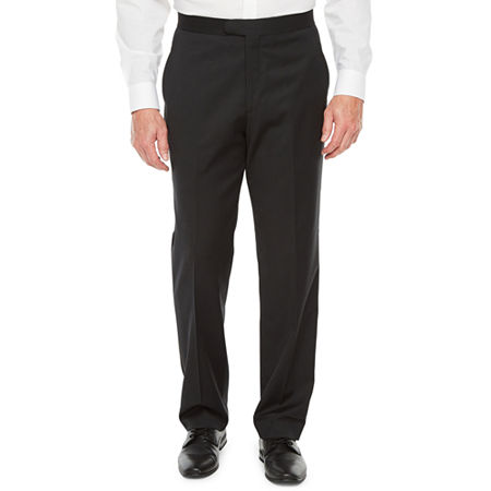 New Vintage Tuxedos, Tailcoats, Morning Suits, Dinner Jackets Stafford Travel Mens Classic Fit Flat Front Tuxedo Pants 38 29 Black $27.49 AT vintagedancer.com
