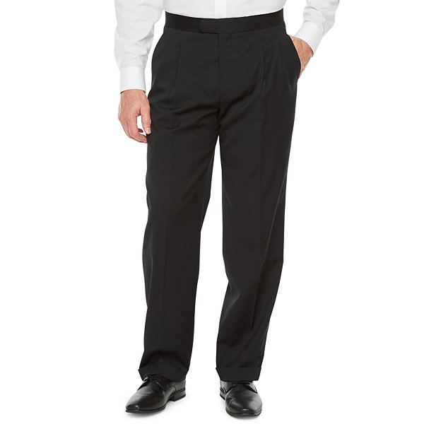 Stafford Travel Mens Classic Fit Tuxedo Pants