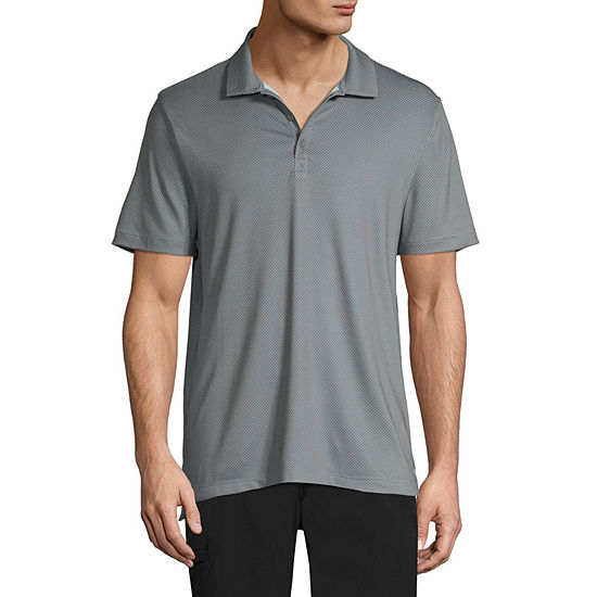 Xersion Mens Henley Neck Short Sleeve Polo Shirt