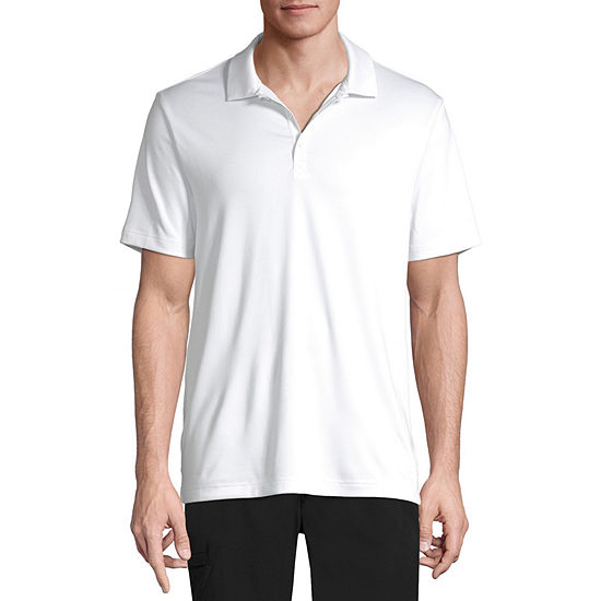 Xersion Mens Henley Neck Short Sleeve Polo Shirt