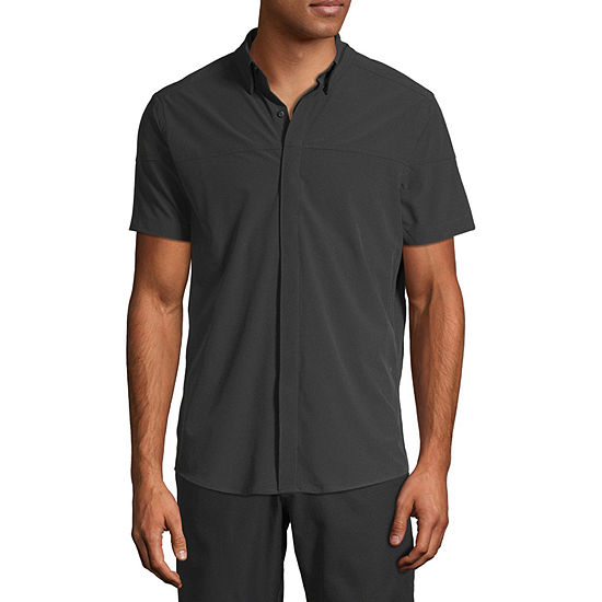 Msx By Michael Strahan Mens Short Sleeve Button-Front Shirt