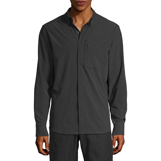 Msx By Michael Strahan Mens Long Sleeve Button-Front Shirt