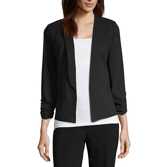 Hollywould Womens Classic Fit Blazer-Juniors
