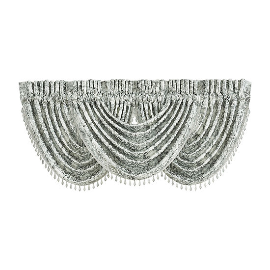 Queen Street Donna Rod-Pocket Waterfall Valance