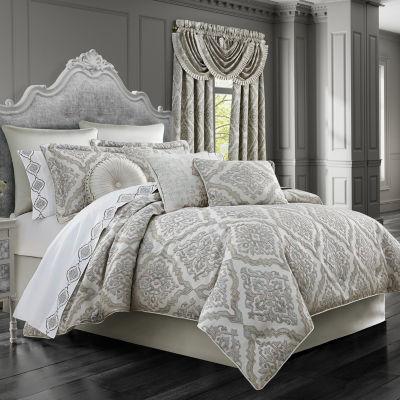 Queen Street Elaine 4-pc. Damask + Scroll Heavyweight Comforter Set