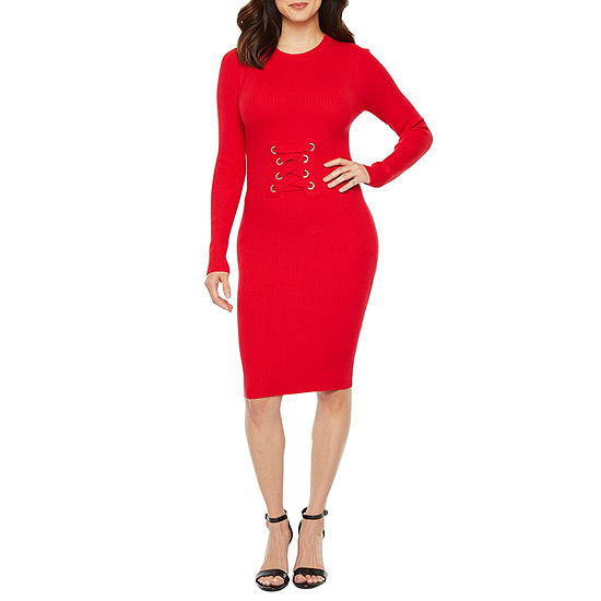 Bold Elements Long Sleeve Sweater Dress