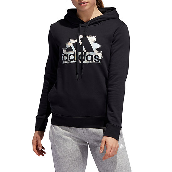 adidas Adidas Team Issue Shine Hoody Womens Hooded Neck Long Sleeve Hoodie