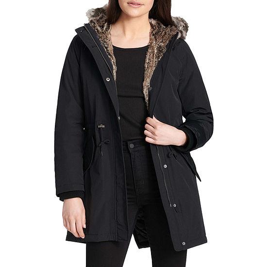 Levi's® Hooded Faux Fur Trim Parka