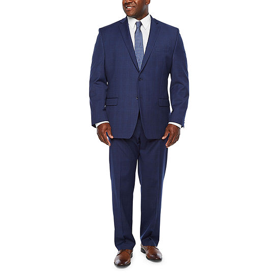 Collection by Michael Strahan Plaid Big and Tall Stretch Suit Separates