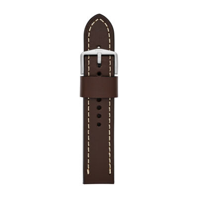 Fossil Smartwatches 22mm Strap Unisex Brown Leather Watch Band S221242 by Fossil Smartwatches