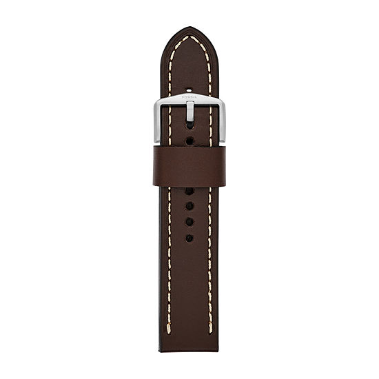 Fossil Smartwatches 22mm Strap Unisex Brown Leather Watch Band-S221242