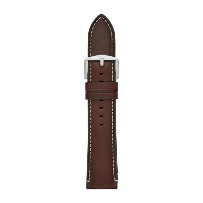 Fossil Smartwatches 22mm Mens Brown Leather Watch Band S221245 by Fossil Smartwatches
