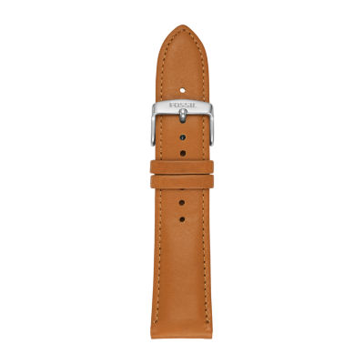 Fossil 22mm Smartwatch Strap Unisex Brown Leather Watch Band S221344 by Fossil Smartwatches