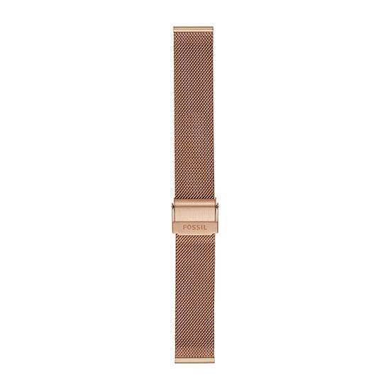 Fossil Smartwatches 18mm Mesh Womens Rose Gold tone Stainless Steel Watch Band-S181375