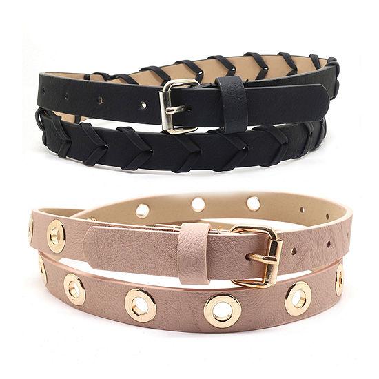 Fantas Eyes Womens Two Pack Belts
