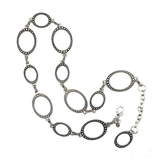 Fantas Eyes Circle Chain Womens Belt