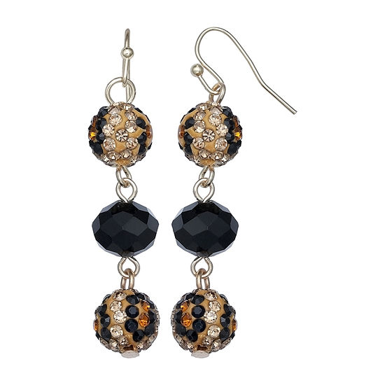 Mixit Animal Pave Ball Drop Earrings