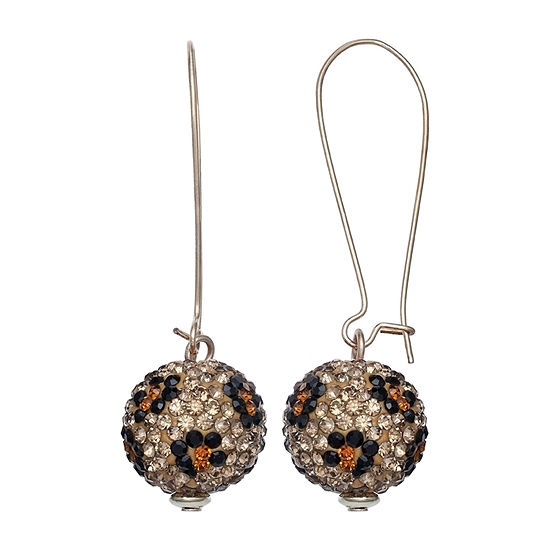 Mixit Animal Print Pave Ball Drop Earrings