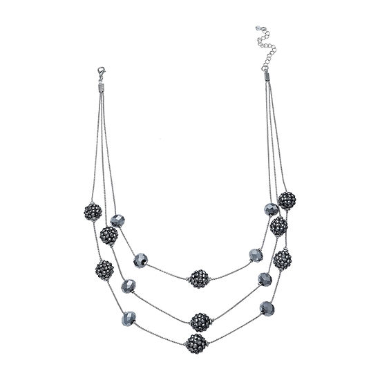 Mixit Glitter Ball 22 Inch Illusion Necklace