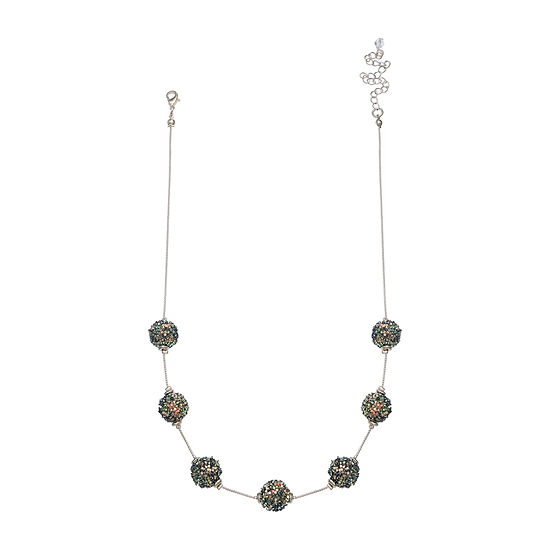 Mixit Glitter Ball 18 Inch Beaded Necklace