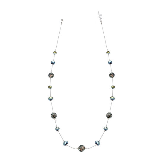 Mixit Glitter Ball 39 Inch Beaded Necklace