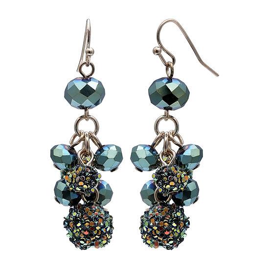 Mixit Glitter Ball Cluster Drop Earrings