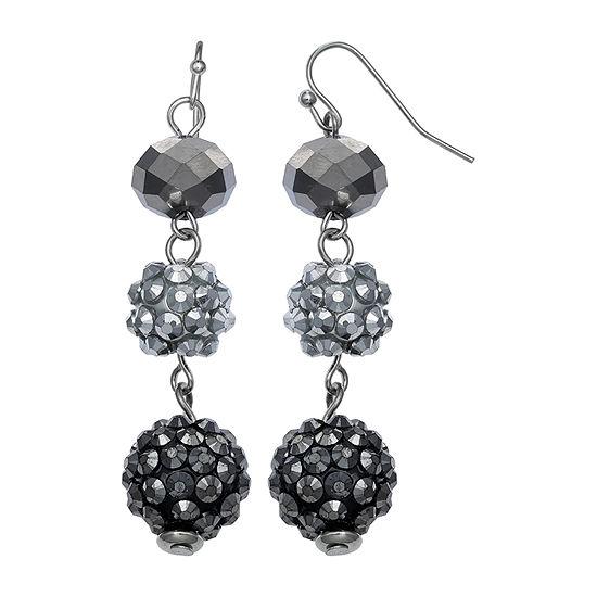 Mixit Glitter Ball Triple Drop Earrings