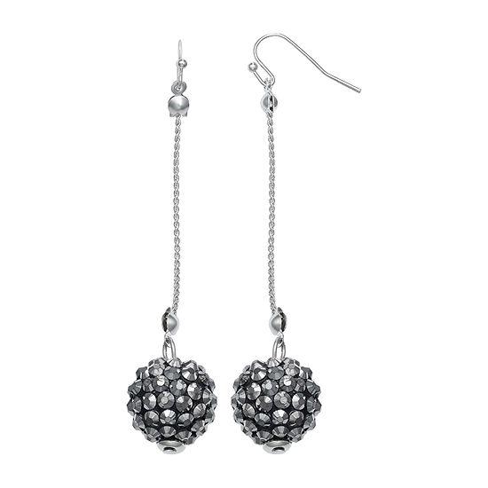 Mixit Glitter Ball Linear Drop Earrings