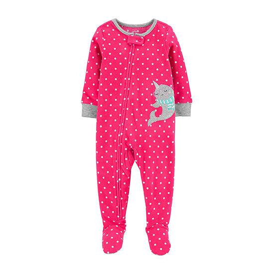 Carter's Girls Microfleece One Piece Pajama Long Sleeve