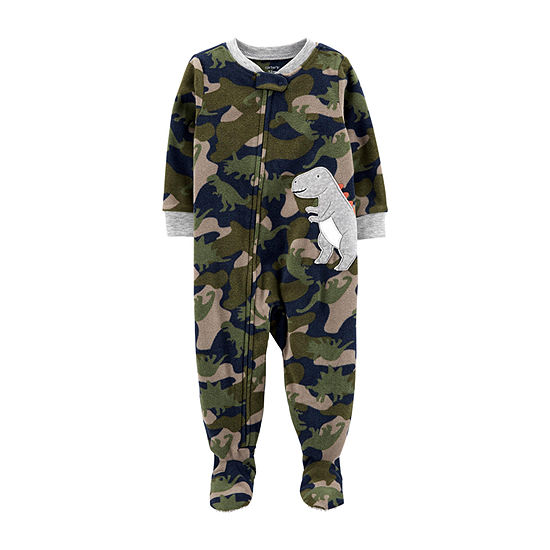 Carter's Boys Fleece One Piece Pajama Long Sleeve