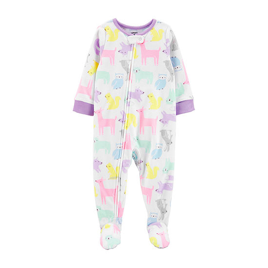 Carter's Girls Microfleece One Piece Pajama Long Sleeve