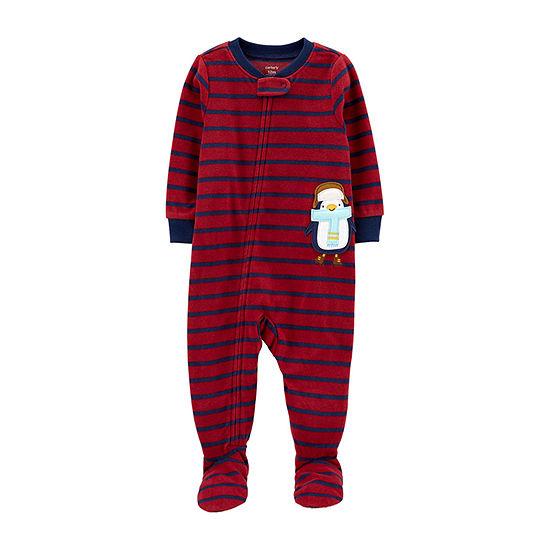 Carter's Boys Microfleece Long Sleeve One Piece Pajama