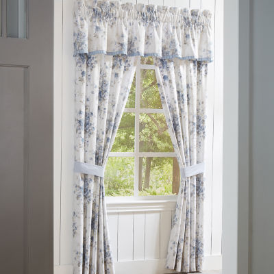 Queen Street Frannie Energy Saving Light-Filtering Rod-Pocket Set of 2 Curtain Panel