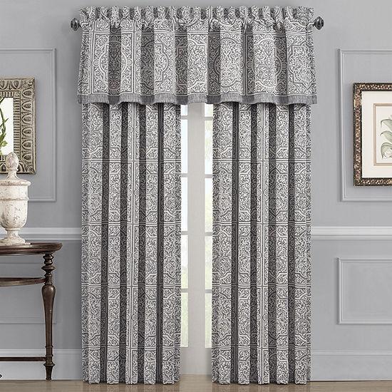 Queen Street Mason Energy Saving Room Darkening Rod-Pocket Set of 2 Curtain Panel