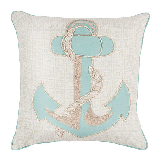 Kas Anchor Square Throw Pillow