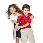 Izod Exclusive Boys Point Collar Short Sleeve Moisture Wicking Polo Shirt