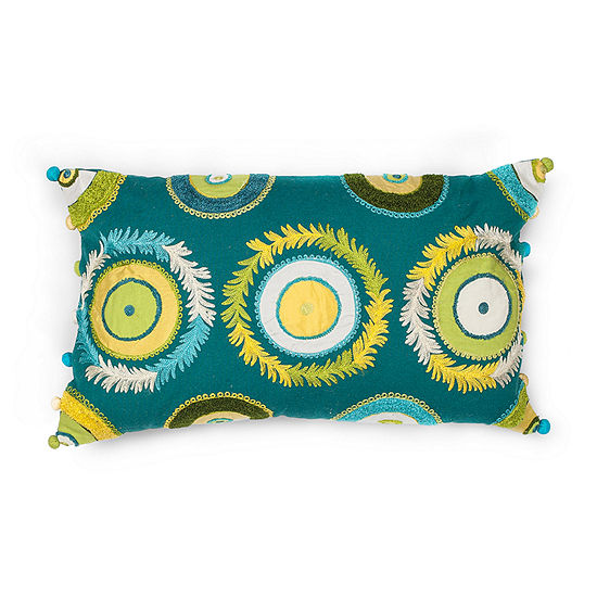 Kas Circles Rectangular Throw Pillow