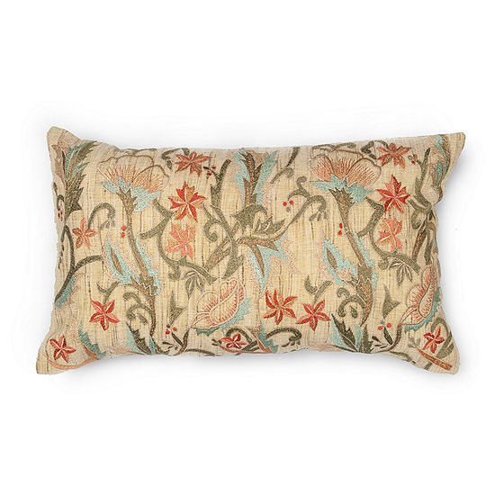 Kas Garden Rectangular Throw Pillow