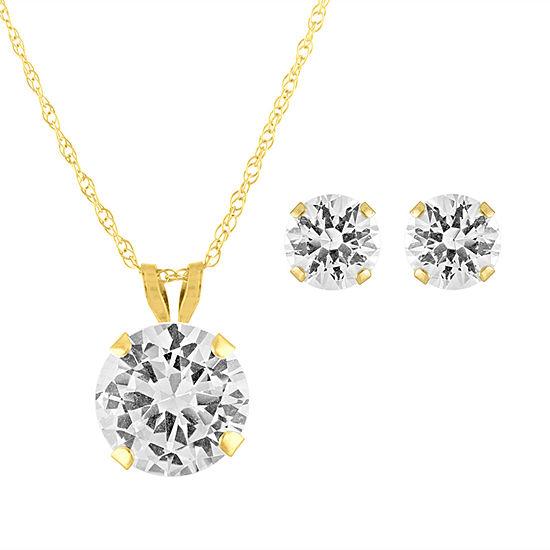 Lab Created White Sapphire 10K Gold 2-pc. Jewelry Set
