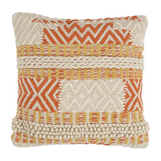 Kas Playa Square Throw Pillow