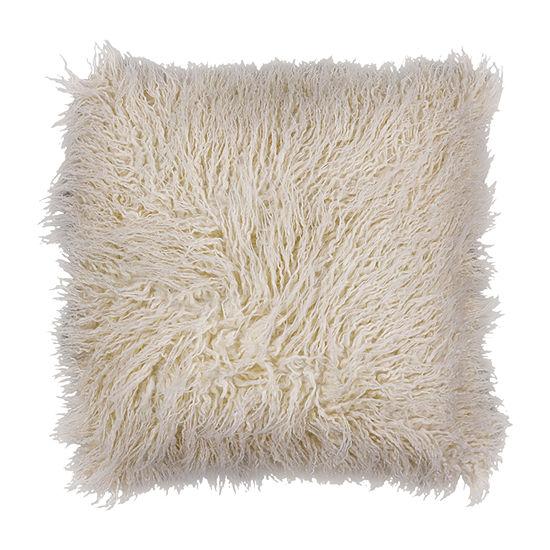 Kas Shaggy Square Throw Pillow
