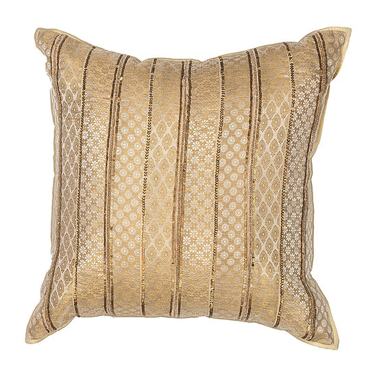 Kas Silk Square Throw Pillow