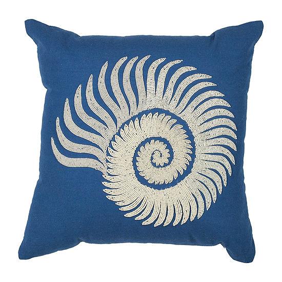 Kas Spiral Square Throw Pillow