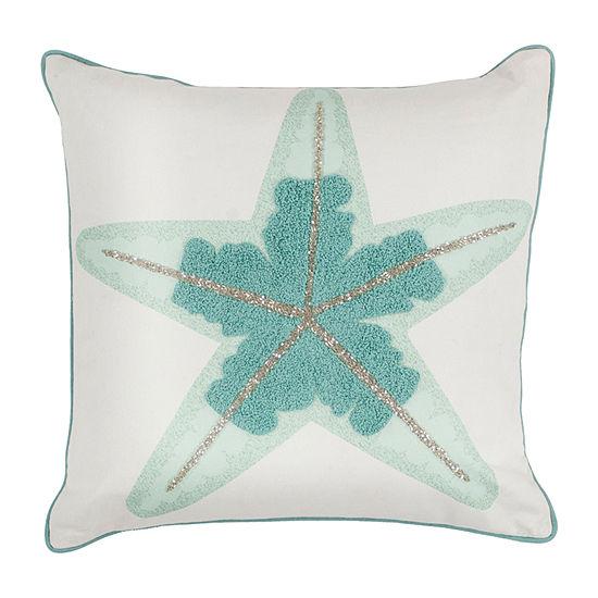 Kas Starfish Square Throw Pillow